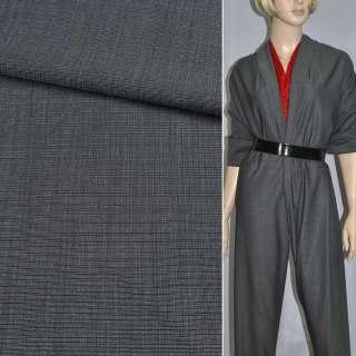 Ткань костюмная шерсть темно-серая ш. 150