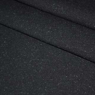 ткань кост.черная с синими ворсинками шир.155 см