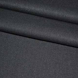 Шерсть костюмная с шелком темно-серая ш.153