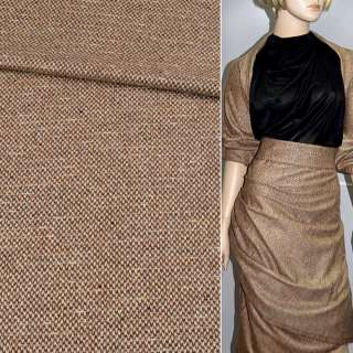 """Тканина костюмна світло-коричнева в дрібні """"лапки"""""""