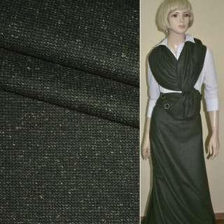 """Ткань костюмная болотно-черная в мелкую клетку """"PHILIPP"""" Германия ш.155"""