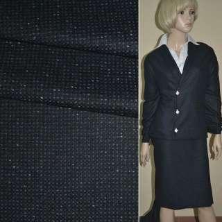 """Ткань костюмная черно-синяя в мелкую клетку """"PHILIPP"""" Германия ш.155"""