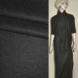 """Ткань костюмная коричнево-черная в мелкую клетку """"PHILIPP"""" Германия ш.155"""