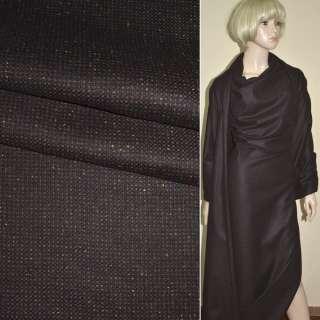 """Ткань костюмная бордово-черная в мелкую клетку """"PHILIPP"""" Германия ш.158"""