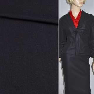 Ткань костюмная черная мелкая диагональ, ш.140