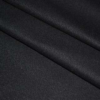 ткань кост. черная диагональ стрейч, ш.150