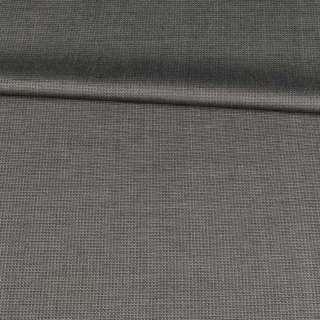 ткань кост.черная с бежевой шелковой нитью