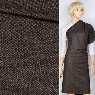Шерсть Becker костюмная черно-коричневая, ш.155