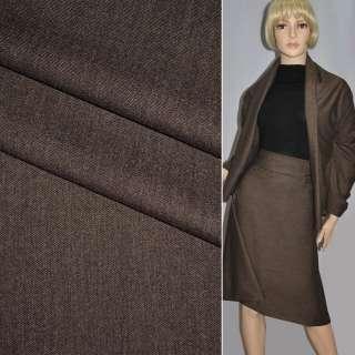 Ткань костюм. коричневая Германия ш.140