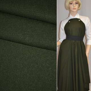 Ткань костюм. стрейч. темно-зеленая Германия ш.146