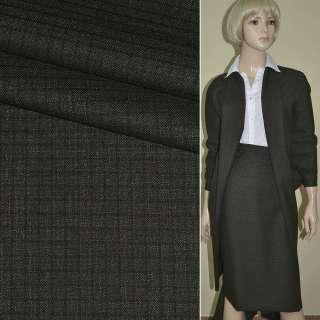 """Ткань костюмная коричневая в клетку """"PHILIPP"""" Германия ш.148"""
