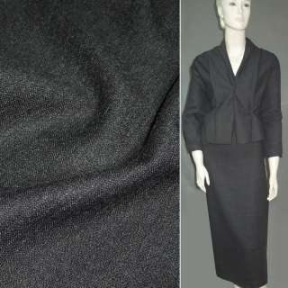 Шерсть костюмна темно-сіра ш.166
