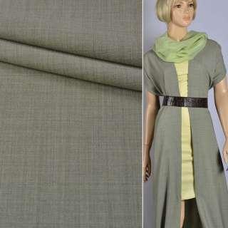 """Шерсть костюмная с эластаном """"HUGO BOSS"""" оливково-серая ш.157"""