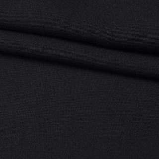 """Шерсть с полиакрилом и эластаном костюмная """"CERRUTI"""" черная ш.155"""