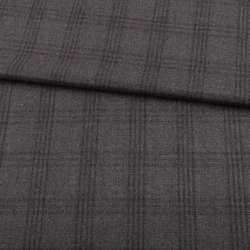 Шерсть ARMANI сіра в сіру клітку ш.155
