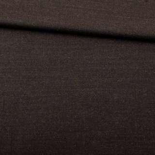 Шерсть костюмна стрейч коричнева темна ш.150