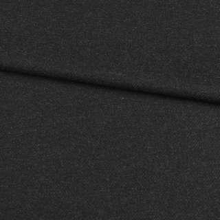 Шерсть з кашеміром чорно-сіра діагональ, ш.152