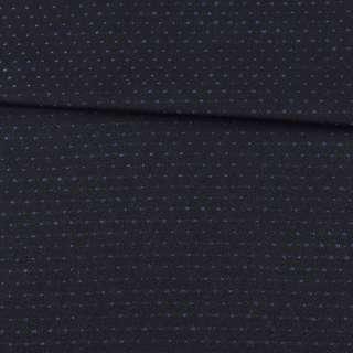 Шерсть костюмная двухсторонняя черная в синюю точку ш.152