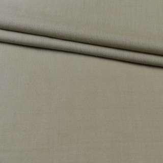 Тканина костюмна сіро-бежева з оливковою відтінком, ш.140
