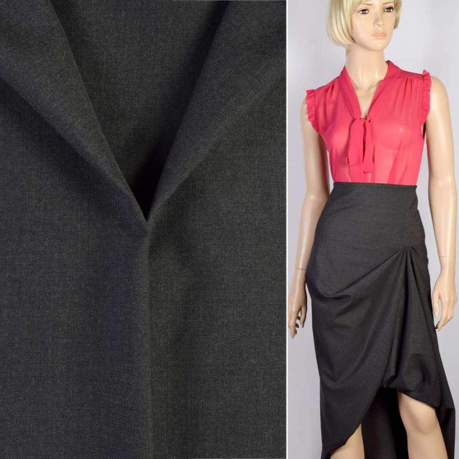 Тканина костюмна чорно-сіра, ш.155