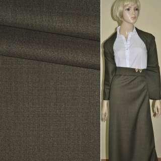 """Ткань костюмная коричнево-серая """"PHILIPP"""" Германия ш.155"""