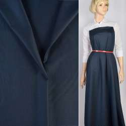 Тканина костюмна синьо-чорна, ш.160