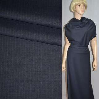 Тканина костюмна полегшена синя в вузьку смужку Німеччина ш.153