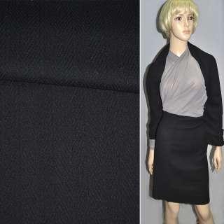 Тканина костюмна чорна в ялинку ш.130
