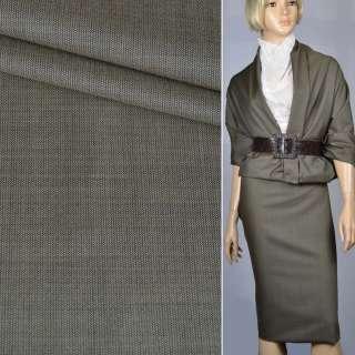 Тканина костюмна коричнево-сіра (HUGO BOSS), ш.150