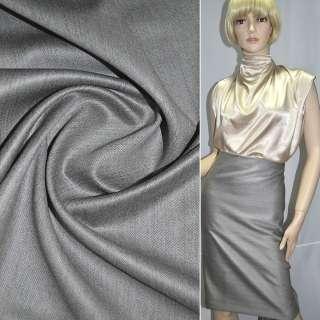 Шерсть костюмна сіро-синя в смужку ш.145