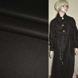 Ткань костюмная коричневая (диагональная полоска) Германия ш.157