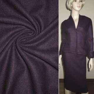 Шерсть костюмная баклажанно-черная ш.152