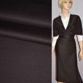 Тканина костюмна коричнево-чорна CERRUTI італія ш.160