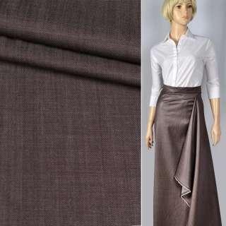 """Шерсть костюмна """"CERRUTI"""" полірована сіро-шоколадна ш.150"""