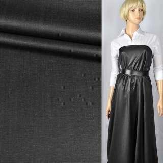 """Шерсть костюмна """"CERRUTI"""" полірована темно-сіра ш.150"""