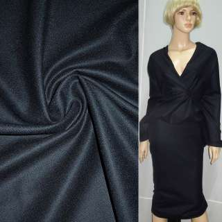Шерсть костюмная темно-синяя ш.150