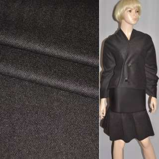 Тканина костюмна сіра темна діагональна смужка Німеччина ш.150