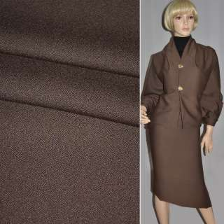 Тканина костюмна коричнева SUPER CREPE VALENTINO італія ш.155