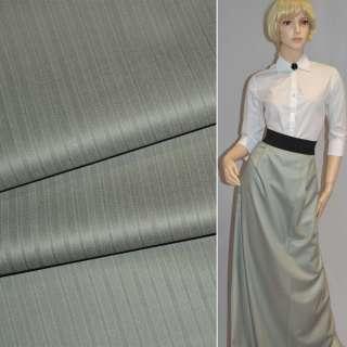 Тканина костюмна срібляста в смужку Німеччина ш.154