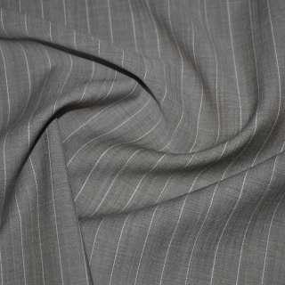Тканина костюмна бежево-коричнева в смужку, ш.150