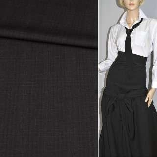 Тканина костюмна темно-сіра в смужку, ш.153