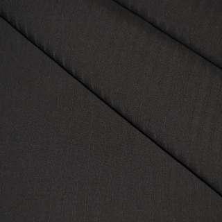 Тканина костюмна коричнева в смужку, ш.158