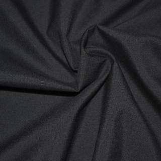 Тканина костюмна чорна однотонна, ш.155
