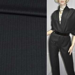 Тканина костюмна темно-сіра, ш.143