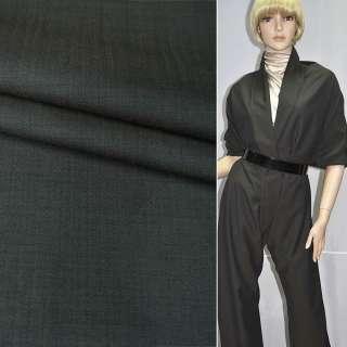 Тканина костюмна сіро-болотна в смужку (HUGO BOSS), ш.154
