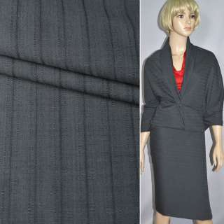 Тканина костюмна сіро-смугаста (HUGO BOSS), ш.150