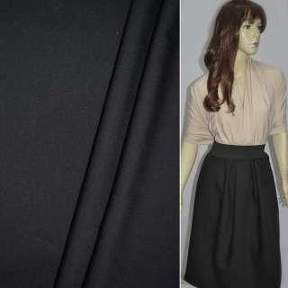 Тканина костюмна чорна в смужку