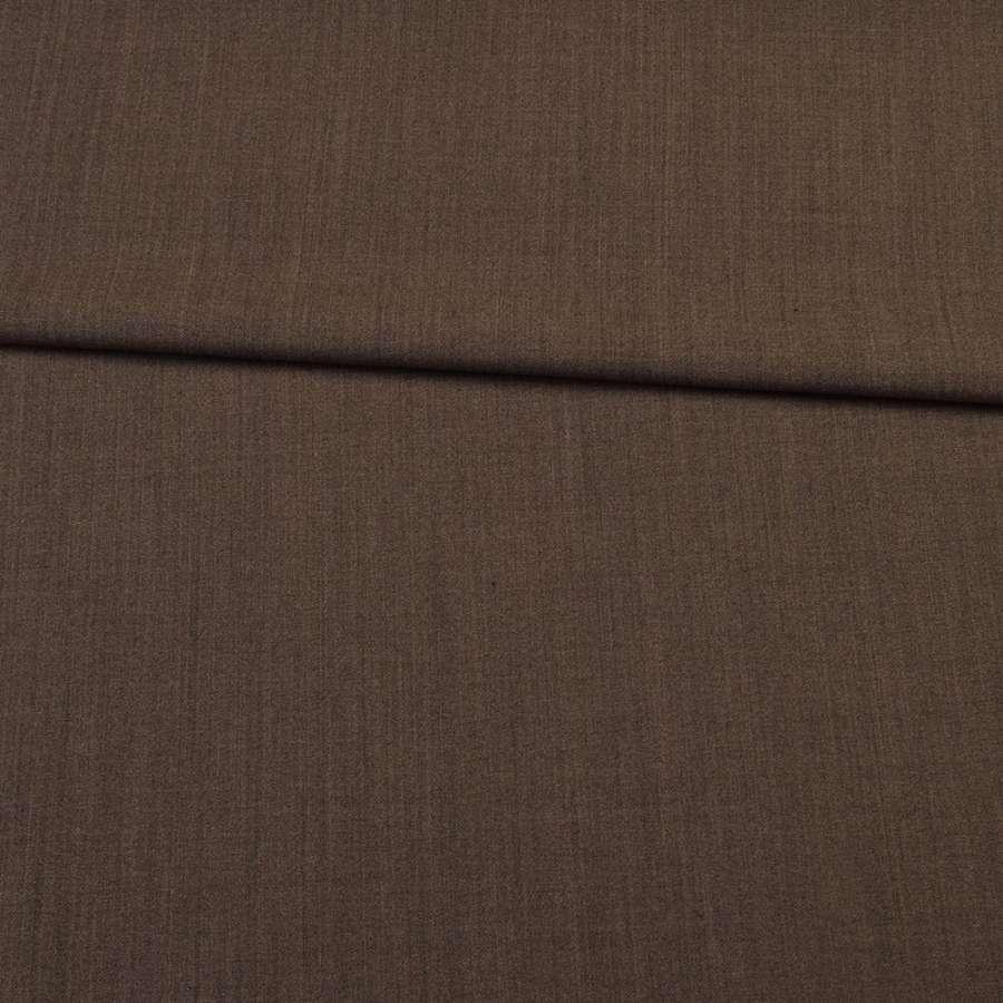 Шерсть стрейч коричнева темна ш.153