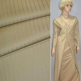 Ткань костюмная бежевая в полоску Германия ш.154