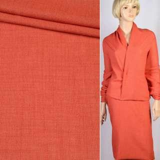 Ткань костюмная терракотовая светлая, ш.150